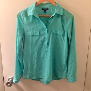Old Navy turquoise button up shirt